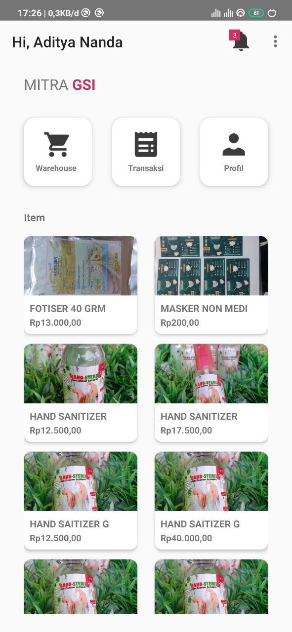 Sistem Penjualan Mitra GSI