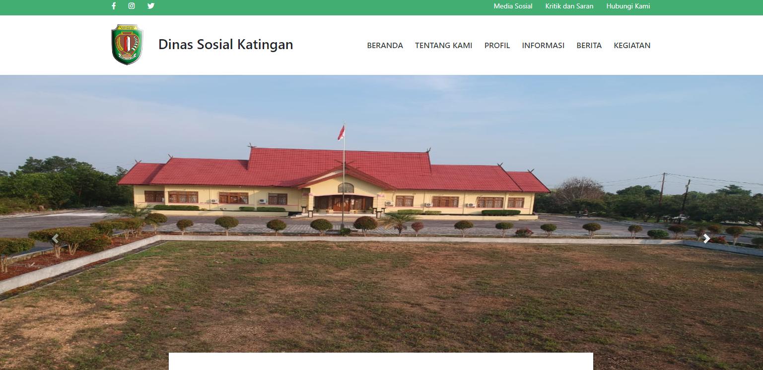 Website Dinas Sosial Kabupaten Katingan